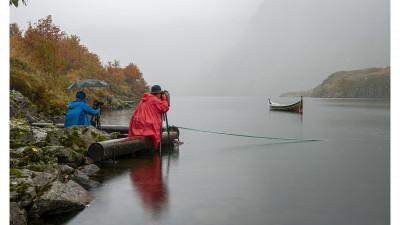 비가오는데  노르웨이